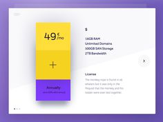Day 011 - Product Pricing Plan by Alek Manov Plan Design, App Design, Motion App, Tablet Ui, Price Plan, Mood And Tone, Pricing Table, Ui Web, Ui Elements