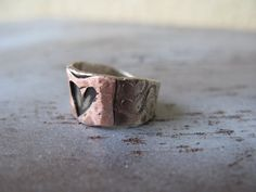Mixed metal jewelry German silver ring Copper by veronikakocisova