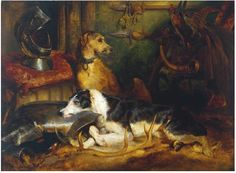 edwin landseer- deerhounds- bred with greyhounds= Lurchers