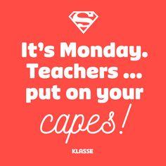 Een oppepper voor leraren op maandag! #allemaalhelden