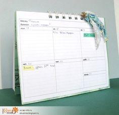 Маленькие хитрости, Ежедневник (planner) и метод переноса текста на ткань.