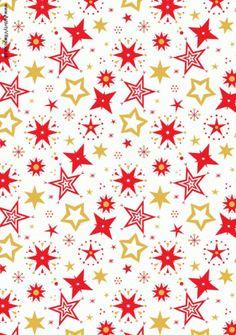 Christmas Scrapbook Paper - Red Stars