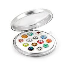 Custom JewelPop Compact - Kameleon Jewelry - Fill it with your favorite JewelPops!  Available at Dona Lynn's in Brenham, Texas - check us out on Facebook!