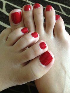 Only sexy feet Orange Toe Nails, Black Toe Nails, Red Toenails, Pretty Toe Nails, Pretty Toes, Red Pedicure, Pedicure Ideas, Kristina Rose, Toe Polish