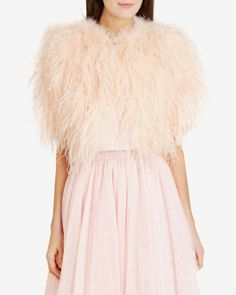 Feather crop jacket - Pale Pink | Jackets & Coats | Ted Baker