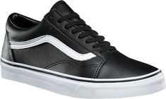 Vans Off The Wall All Black Leather Slip on 12 New Blackout