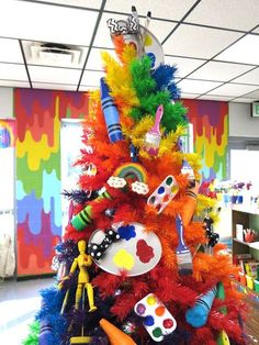 Cassie Stephens: Art Room Rainbow Tree (and a New Mural)!