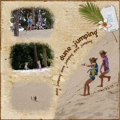 Scrapbooking- dune jumping!