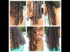 6 Natural Hair Styles and Curls (Flexi Rods, 2 and 3 Strand Twist, Bantu Knot, Flat Twist, Braid) - YouTube