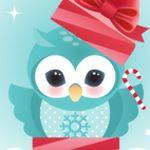 FREEBIE Owl Printable Holiday Card by minercia.deviantart.com