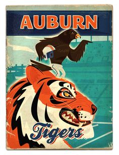 SEC football by Thomas Burns, via Behance