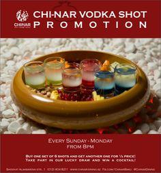 #Chinar #vodka #shot #promotion #sunday #monday #get #cocktail #have #fun #enjoy