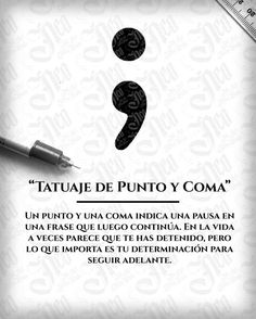 Best Inspirational Quotes About Life QUOTATION – Image : Quotes Of the day – Life Quote Tatuaje Punto y Coma Sharing is Caring – Keep QuotesDaily up, share this quote ! Simbolos Tattoo, Tattoos 3d, Semicolon Tattoo, Mini Tattoos, Piercing Tattoo, Finger Tattoos, Love Tattoos, Beautiful Tattoos, Body Art Tattoos