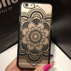 For iphone 7 Retro style Colorful Mandala Flower phone Case Cover For Apple iPhone5 5s 6 6 s 6s Plus New Floral Back Cover Capa