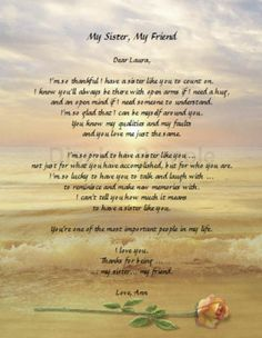 beautiful sister poems   Details about Personalized Sister Poem Birthday Keepsake Gift