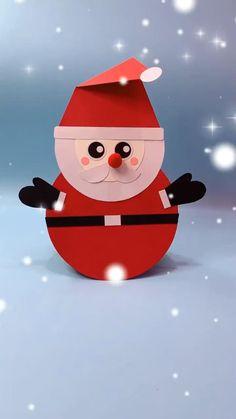 Christmas Decorations For Kids, Christmas Crafts For Kids To Make, Christmas Ornament Crafts, Fun Crafts For Kids, Craft Activities For Kids, Kids Christmas, Holiday Crafts, Cool Paper Crafts, Diy Crafts