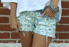 Material Therapy - Embellished shorts