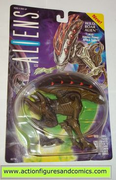 Kenner ALIENS vs PREDATOR action figures for sale to buy 1993 WILD BOAR ALIEN New - Still Factory Sealed in the original package Condition: Overall a great display peice, minor shelf wear only package