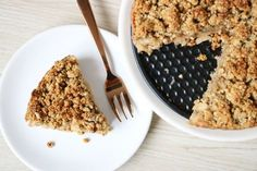 Healthy apple-crumble pie!