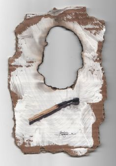 Massimo Capogna - Artist: Acquerello ripassato con penne bic colorate.