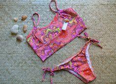 Biquíni Top Laranja e Pink - Sirena Moda Praia