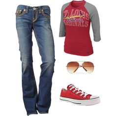 Cardinals, created by reggie777 on Polyvore