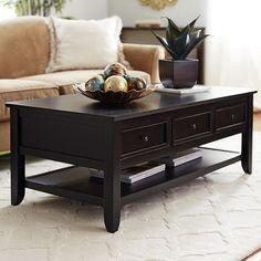 Ashington Coffee Table - Rubbed Black :: family room?