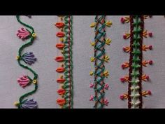 Hand Embroidery Designs   Basic embroidery stitches # Part 6   Stitch and Flower-76 - YouTube