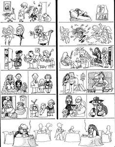 Quino - vidas paralelas Gahan Wilson, Lucky Luke, Let's Have Fun, Picture Story, Humor Grafico, Amazing Adventures, Teaching Tips, Funny Comics, Caricature