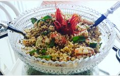 #Quinoa#Bulgur#shripms#mint end lime....💖