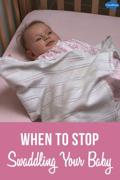 Want to learn how to swaddle your baby? Here's a super helpful video on how to swaddle a baby with arms out and when to stop swaddling!