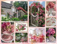Pink rose cottage, mood/Cole collage