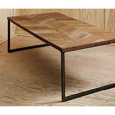 herringbone coffee table in view all new | CB2 $399