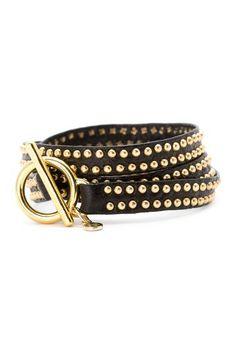 Graham Mini Double Studded Triple Wrap Bracelet by Gorjana on @HauteLook