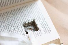 book wedding ring pillow alternative