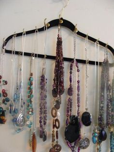 A way to hang those necklaces!