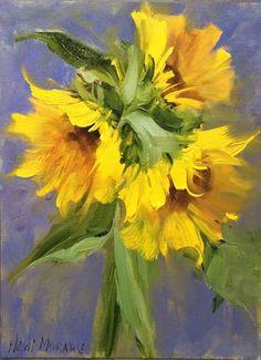 Amazing Flowers, Flower Art, Bloom, Fine Art, Sunflowers, Floral, Painting, Ideas, Art