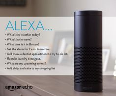 8 Everyday Commands for your Amazon Echo || Ask your Alexa everyday questions to help keep you in-the-know and ready for your day.
