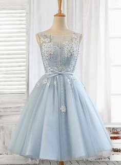Buy Light Blue Tulle Short Prom Dress, Scoop Straps Homecoming Dresses with Lace up online.Shop short long ombre prom, homecoming, bridesmaid evening dresses at Couture Candy Cocktail party dresses, formal ball gowns in ombre colors. Cute Prom Dresses, Event Dresses, Short Dresses, Dress Prom, Dresses Dresses, Party Dresses, Wedding Dresses, Lace Evening Dresses, Lace Dress