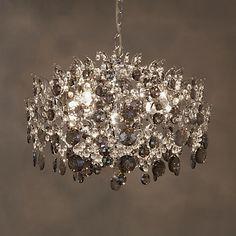 Buy John Lewis Paris Smoke & Clear Crystal Ceiling Light Online at johnlewis.com