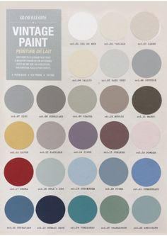 The Nordic-French palette of colours, containing 48% chalk.