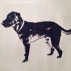 Our version of the dog silhouette idea I saw on here. This is going in the nursery!