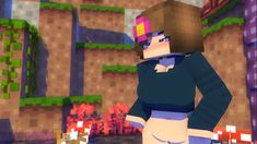 Minecraft Anime Girls, Minecraft P, Minecraft Drawings, Anime Art Girl, Anime Characters, Weird, Character Design, Geek Stuff