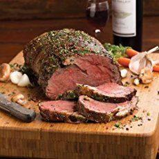 Garlic Crusted Prime Rib Roast | by Life Tastes Good with a buttery soft texture on the inside and a crisp garlicky outside melts in your mouth like a luscious piece of chocolate! I just want to savor the glorious flavor as long as possible. It tastes so good and is exactly why I always serve my Garlic Crusted Prime Rib Roast for our Christmas dinner. #LTGrecipes #SundaySupper #RoastPerfect