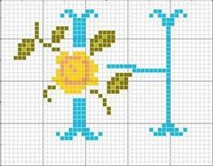 Blue with Rose Alphabet Cross Stitch Patterns florais - Cinda Rezende - Picasa Albums Web H Cross Stitch Embroidery, Embroidery Patterns, Stitch Patterns, Bead Crafts, Diy And Crafts, Plastic Canvas Letters, Cross Stitch Letters, Monogram Alphabet, Needlepoint