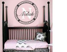 Nursery Baby Name Girl Boy Monogram Wall Decal by AllOnTheWall, $24.00