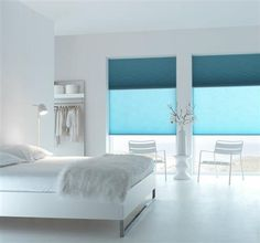 Realisaties - plisse & duette shades - Reno-Deco Window Treatments, Blinds, Sweet Home, New Homes, Shades, Windows, Curtains, Bedroom, Interior