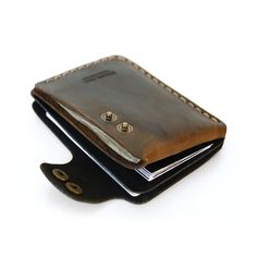 Double Snap Wallet in Brown