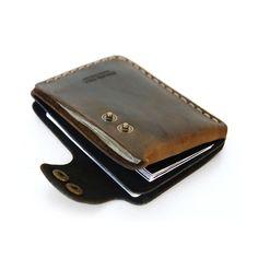 Double Snap Wallet in Brown