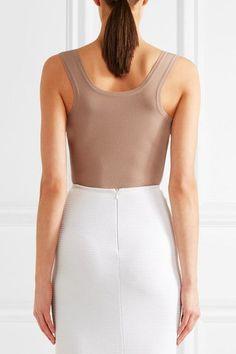Alaïa - Stretch-knit Bodysuit - Sand - FR44